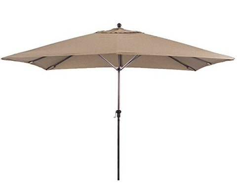 Eclipse Collection 11'X8' Rectangular Aluminum Market Umbrella Bronze/Sunbrella/Sesame Linen