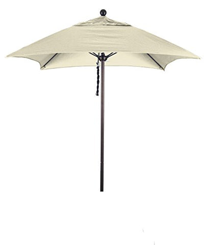 Eclipse Collection 6' Fiberglass Market Umbrella PO DVent Bronze/Sunbrella/Canvas