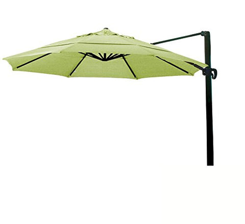 Eclipse Collection 11' CantileverUmbrella CrankLift MultiPositon Tilt Bronze/Sunbrella/Macaw
