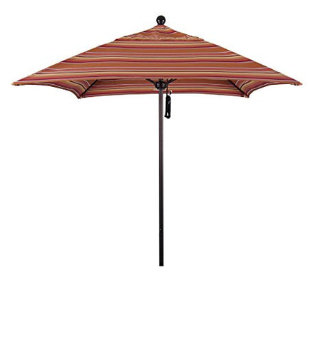 Eclipse Collection 6' Fiberglass Market Umbrella PO DVent Bronze/Sunbrella/Dolve Mango
