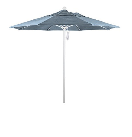 Eclipse Collection 7.5' Fiberglass Market Umbrella PO DVent White/Sunbrella/Air Blue