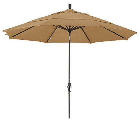 Eclipse Collection 11' Aluminum Market Umbrella Collar Tilt Bronze/Olefin/Champagne/DWV