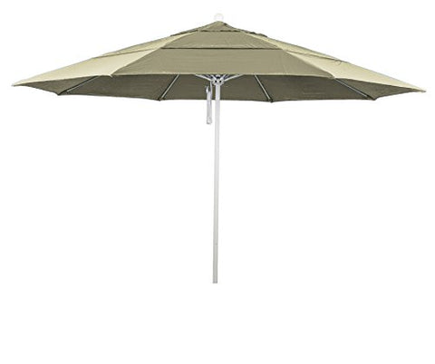 Eclipse Collection 11' Fiberglass Market Umbrella PO DVent MWhite/Pacifica/Beige