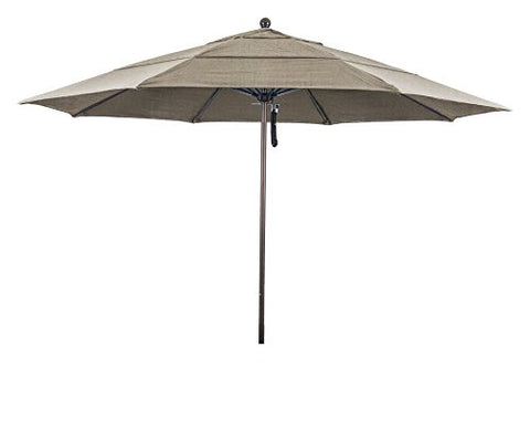 Eclipse Collection 11' Fiberglass Market Umbrella PO DVent Bronze/Pacifica/Purple