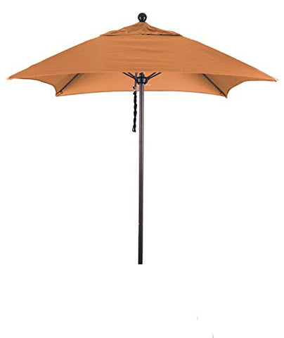 Eclipse Collection 6' Fiberglass Market Umbrella PO DVent Bronze/Sunbrella/Tuscan