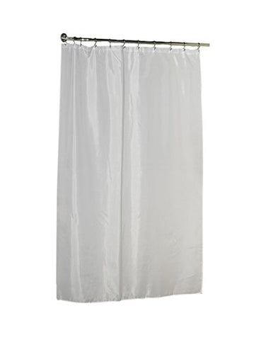 Park Avenue Deluxe Collection Extra Long (96'') Polyester Fabric Shower Curtain Liner in White