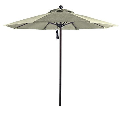 Eclipse Collection 7.5' Fiberglass Market Umbrella PO DVent Bronze/Sunbrella/Natural