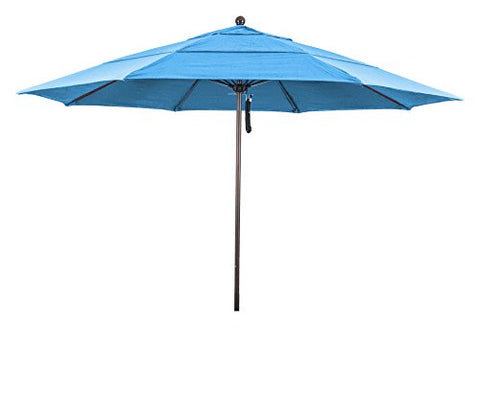 Eclipse Collection 11' Fiberglass Market Umbrella PO DVent Bronze/Pacifica/Mocha