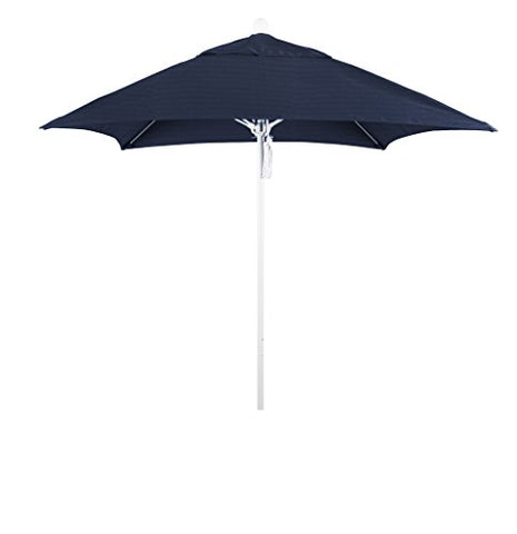 Eclipse Collection 6' Fiberglass Market Umbrella PO Dvent Matte Whitee/Sunbrella/Navy