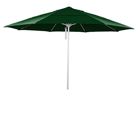 Eclipse Collection 11' Fiberglass Market Umbrella PO DVent MWhite/Pacifica/Hunter Green