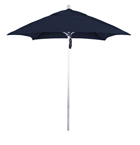 Eclipse Collection 6' Fiberglass Market Umbrella PO Dvent Silver Anodized/Sunbrella/Navy