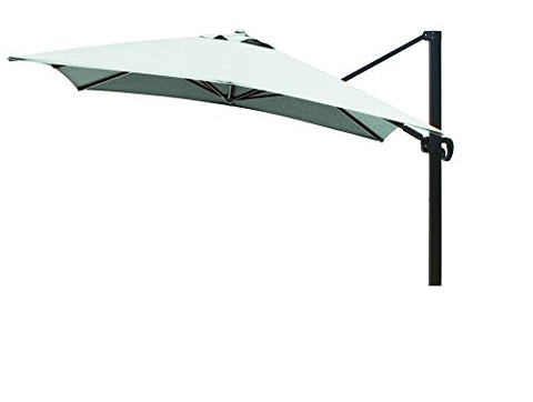 Eclipse Collection 10'x10' SquareCantileverUmbrella CL MultiPositon Bronze/Sunbrella/Spectrum Mist