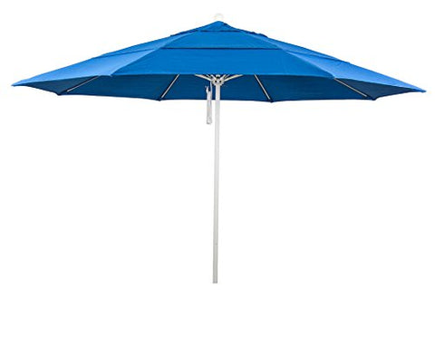 Eclipse Collection 11' Fiberglass Market Umbrella PO DVent MWhite/Olefin/Royal Blue