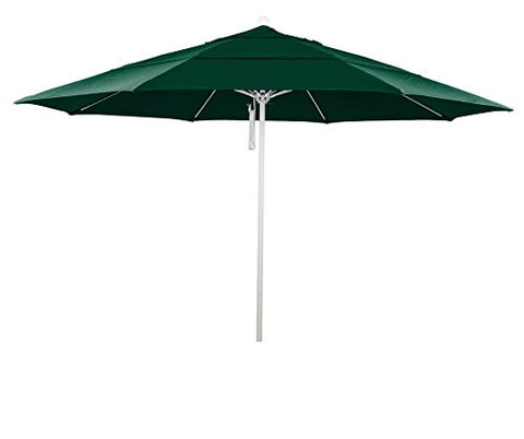 Eclipse Collection 11' Fiberglass Market Umbrella PO DVent White/Sunbrella/ForestGreen