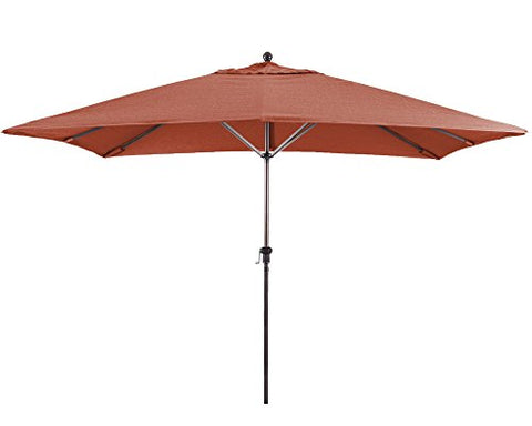 Eclipse Collection 11'X8' Rectangular Aluminum Market Umbrella Bronze/Sunbrella/Terracotta