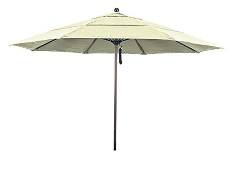 Eclipse Collection 11' Fiberglass Market Umbrella PO DVent Bronze/Pacifica/Yellow