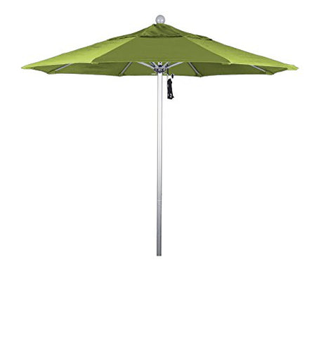 Eclipse Collection 7.5' Fiberglass Market Umbrella PO Dvent Silver Anodized/Sunbrella/Macaw