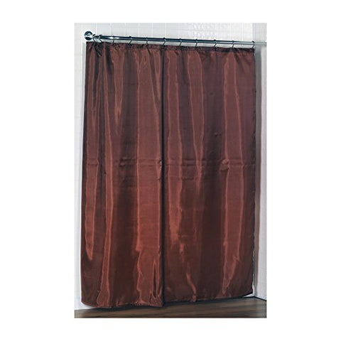 Park Avenue Deluxe Collection Park Avenue Deluxe Collection Standard-Sized Polyester Fabric Shower Curtain Liner in Spice Color