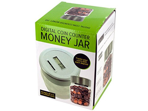 Regalo Perfecto Collection Digital Coin Counter Money Jar