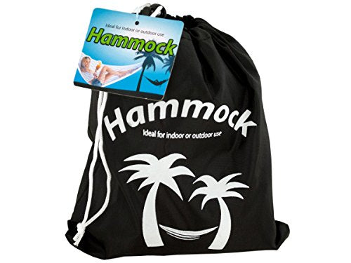 Regalo Perfecto Collection Nylon Hammock in Carrying Bag