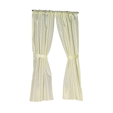 Park Avenue Deluxe Collection Park Avenue Deluxe Collection Polyester Fabric Window Curtain in Ivory