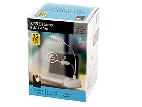 Regalo Perfecto Collection USB Desktop Fan Lamp