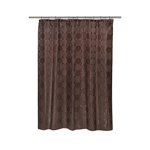 Park Avenue Deluxe Collection Park Avenue Deluxe Collection  inch Jacquard Circles inch  Fabric Shower Curtain in Brown