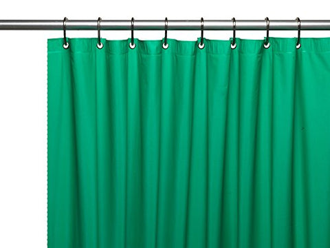 Park Avenue Deluxe Collection Park Avenue Deluxe Collection Hotel Collection 8 Gauge Vinyl Shower Curtain Liner w/ Metal Grommets in Emerald