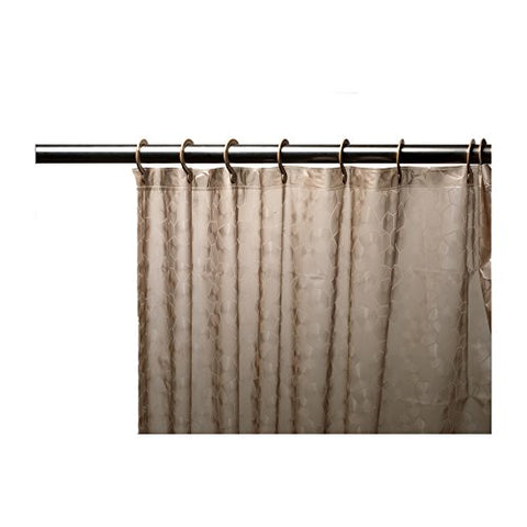 Park Avenue Deluxe Collection Park Avenue Deluxe Collection Brown Embossed PEVA Shower Curtain with Built-in Hooks
