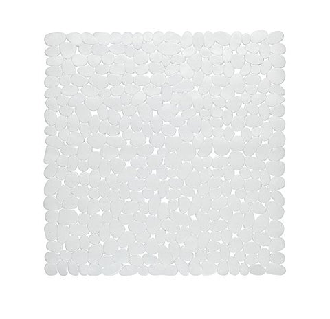 Park Avenue Deluxe Collection Park Avenue Deluxe Collection Stall Size inch Pebbles inch  Vinyl Bath Mat in white