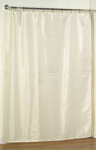 Royal Bath Extra Long Water Repellant Fabric Shower Curtain Liner with Weighted Hem (70 inch  x 78 inch ) - Ivory