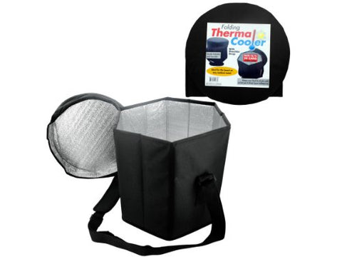 Regalo Perfecto Collection Folding Thermal Cooler with Shoulder Strap
