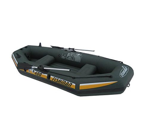 By PoolCentral 9.5' Green and Yellow Three Person Inflatable Fishing Boat Set