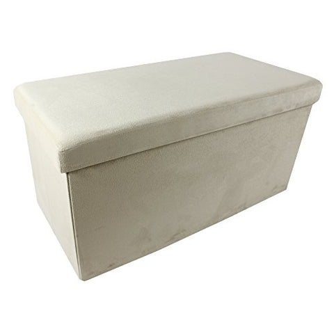 Ben&Jonah Collection Collapsible Storage Ottoman - Camel Suede 30x15x15