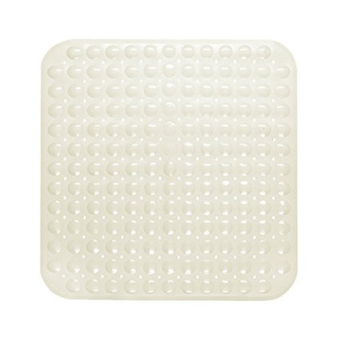 Park Avenue Deluxe Collection Park Avenue Deluxe Collection Stall Size inch Bubble inch  Look Vinyl Bath Mat in ivory.