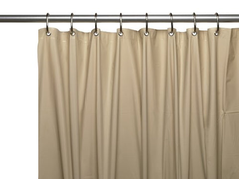 Carnation Home Fashions 72 by 84-Inch Waterproof Vinyl Shower Curtain Liner X-Large Linen