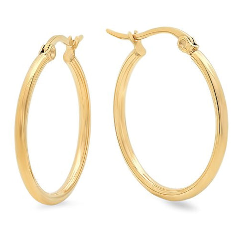 Ben and Jonah Ladies 18 KT Gold Plated 25MM Hoop Earrings