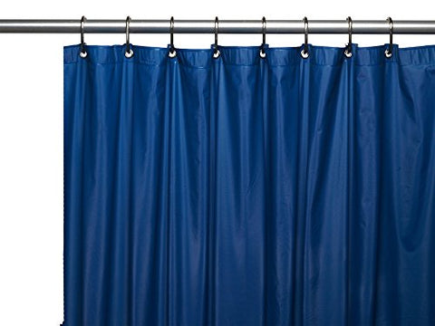 Park Avenue Deluxe Collection Park Avenue Deluxe Collection Premium 4 Gauge Vinyl Shower Curtain Liner w/ Weighted Magnets and Metal Grommets in Navy