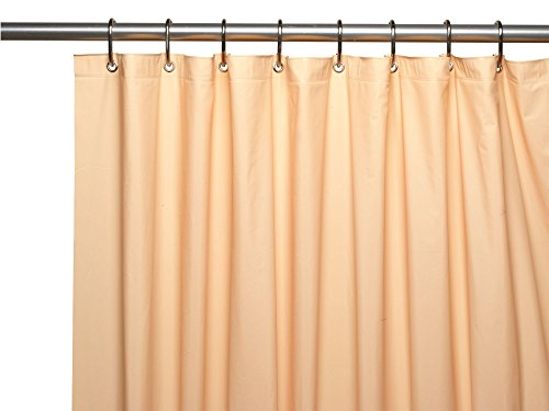 Royal Bath Heavy 4 Gauge Vinyl Shower Curtain Liner with Weighted Magnets and Metal Grommets (72 inch  x 72 inch ) - Peach