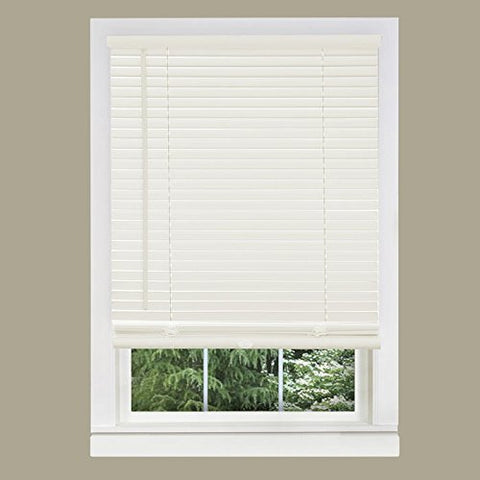 Park Avenue Collection Cordless GII Morningstar 1 inch  Mini Blind 29x64 - Alabaster