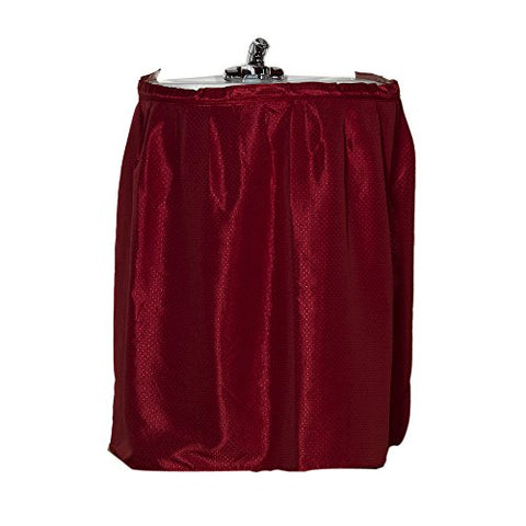 Park Avenue Deluxe Collection Park Avenue Deluxe Collection  inch Lauren inch  Diamond-Piqued 100% Polyester Sink Drape in Burgundy