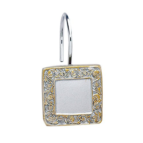 Park Avenue Deluxe Collection Park Avenue Deluxe Collection  inch Lakewood inch  Resin Shower Curtain Hooks in Silver