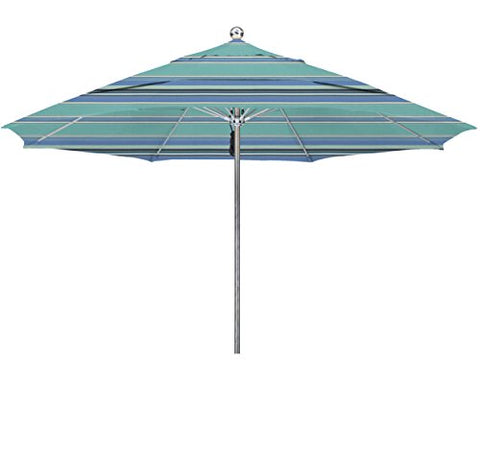 Eclipse Collection 11'SSteel SinglePole FGlass Ribs M Umbrella DV Anodized/Sunbrella/Dolce Oasis