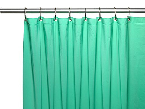 Park Avenue Deluxe Collection Park Avenue Deluxe Collection Hotel Collection 8 Gauge Vinyl Shower Curtain Liner w/ Weighted Magnets and Metal Grommets in Jade