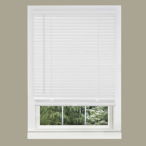 Park Avenue Collection Cordless GII Morningstar 1 inch  Mini Blind 29x64 - Pearl White