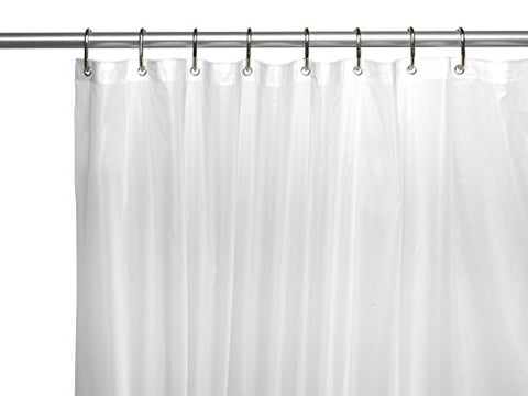 Splish Splash Jumbo Size Extra Heavy 10 Gauge PEVA Non-Toxic Shower Curtain Liner with Metal Grommets (72 inch  x 96 inch ) - Super Clear