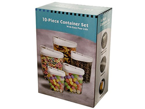 Regalo Perfecto Collection Nesting Food Container Set with Easy Pour Lids