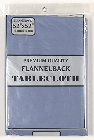 Simple Elegance by Bon Appetit Solid Color Vinyl Tablecloth with Polyester Flannel Backing - Slate Rectangle (52 inch  x 70 inch )