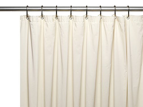 Park Avenue Deluxe Collection Park Avenue Deluxe Collection Premium 4 Gauge Vinyl Shower Curtain Liner w/ Weighted Magnets and Metal Grommets in Bone