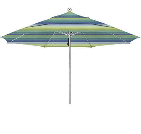 Eclipse Collection 11'SSteel SinglePole FGlass Ribs M Umbrella DV Anodized/Sunbrella/Seville Seaside